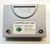 N64 Controller Pak NUS-004 OEM Official Nintendo 64 Memory Card Tested & Works