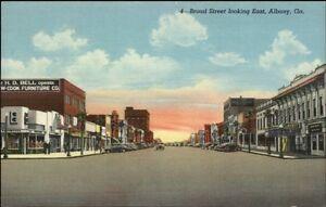 Albany GA Broad St. Postcard rpx