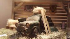Morris Mini Cooper Barn encontrar diorama modelo Regalo Coche Clásico código 3 Arte Adorno