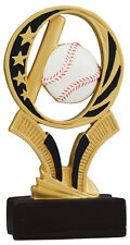 "Baseball trophy or award, about 6"" tall, engraving included, Great Design!"