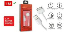 iPhone 4/4s Fast 30-PIN USB Charge & SYNC USB 1M Data Cable 3.1A for iPhone iPad