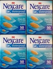 3M Nexcare Waterproof Clear Bandages Assorted, 50 Count 4 Boxes Free Shipping