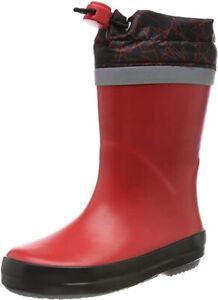 Clarks TARRI TIE Girls Boys Red Toggle Waterproof Wellington Boots 7 - 12 G Fit
