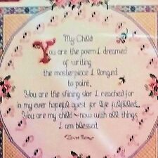My Child Poem Prayer Counted Cross Stitch Kit Family Bucilla 4033 15x15 GNelson