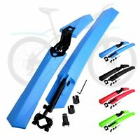 "24""-29"" Mountain Bike Mudguards MTB Bicycle Mud Guard Tire Fender Front Rear Set"