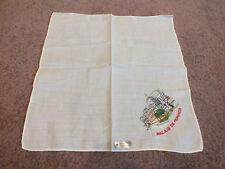 """Collectible Ladies Handkerchief Embroidered """"Palais De Monaco"""" Original Label"""
