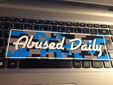 ABUSED DAILY CAR slap STICKER jdm drift stance lowered car sticker decal