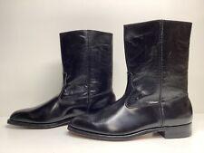 Vtg Mens Wolverine Cowboy Black Boots Size 11.5 B