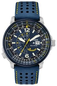 New Citizen Eco-Drive Promaster Knighthawk Blue Angels Men's Watch BJ7007-02L