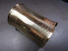 B2034 Brass tone WIDE CUFF Bracelet Hippie BOHO Gypsy Vintage Brisk Bangle India