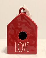 Rae Dunn Red LOVE Square Birdhouse-Large Letter Farmhouse by Magenta NEW!