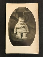 Vintage Postcard - RP Anonymous Child - #22 - Young Child Sitting
