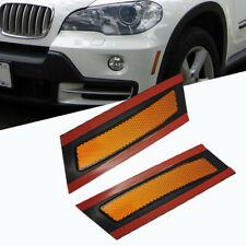 Amber Lens For BMW E70 X5 2007-2010  Front Bumper Reflector Side Marker Lights