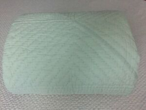 Pottery Barn Quilt Full/ Queen  Stitched  Light Green