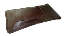 More details for real leather pen case 3-4 pen handmade pouch roller ballpoint fountain pen pouch