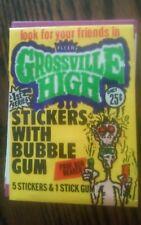 1986 Fleer Grossville High Trading Complete 66 Sticker Set w/Wrapper (NM/MT)