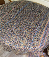 Hand-made Multi Colored Multi Striped Crochet Throw Afghan Approx 69 X 52