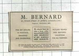 1950 M Bernard, 21 Ryder Street St James Fine Art Dealers