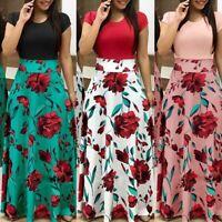1PC Fashion Floral Long Maxi Dress Split Cocktail Party Beach Sundress \