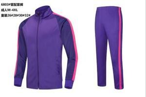 New Fashion Men Gym Sport Football Track Suit Adult Soccer Training Jacket+ Pant