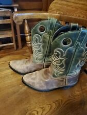 Smoky Mountain Western Boots Boy Henry Leather Tricot Brown Green 3605 2.5D