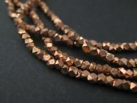 Tiny Diamond Cut Faceted Copper Beads 2mm 24 Inch Strand