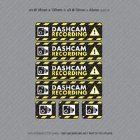 7 x Dash Cam Recording Stickers CCTV In Car Video Camera Decal Sticker - SKU3111