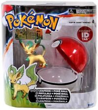 Pokemon Clip n Carry Pokeball Leafeon with Poke Ball Figure Set