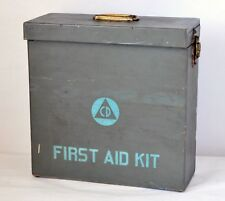 Civil Defense US Army WWII DAVIS EMERGENCY 24 Unit First Aid Kit Complete Rare