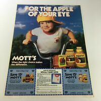VTG Retro 1986 Mott's Apple-Based Juices & Sauces Print Ad Coupon