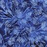 Island Batik cotton fabric Pale Blue flowers/ Navy  55cm x 50cm larger available
