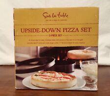 "UPSIDE-DOWN PIZZA 3pc SET (2) 6"" PANS, (1) CUTTER OVEN/GRILL by SUR LA TABLE"