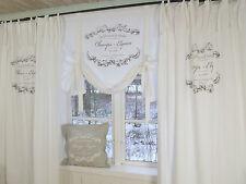 Vorhang Elegance WEISS Schlaufen Gardine 120x240 Lillabelle Landhaus