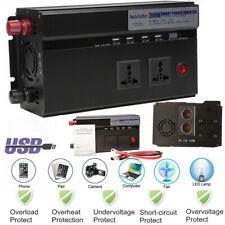 2000-4000W Peak 12V DC to 110V AC Sine Wave power Inverter for RV/Truck/Car/Home