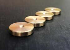 - British Made - SLIM Brass Speaker spike pads shoes feet - Set of 4 pcs