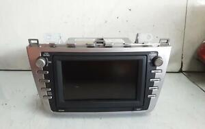 MAZDA 6 STEREO/HEAD UNIT FACTORY, IN DASH STACKER, W/ BOSE TYPE, GH, 02/08-11/12