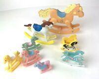 Vtg Rocking Horse lot Plastic Toy Decor 70s 80s 90s FP Mattel Amscan Kid Kore