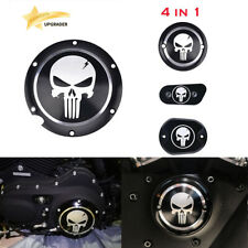 4 Skull Engine Derby Timing Timer Cover For Harley Sportster Iron XL 883 1200 48