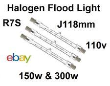 R7 Tungsten Halogen Linear Security Floodlight Tube Bulbs100W /150W  110v J118mm