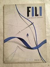 RIVISTA FILI LAVORI D'AGO 88 12/1941 GIACCHETTI COPERTA DA LETTO CORREDO DOMUS