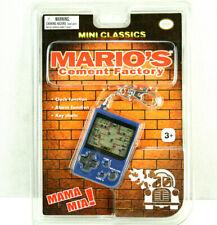 Mario Vintage Handheld MGA Electronic Game Mario's Cement Factory Clock Alarm
