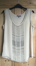 Brand New Women's Laura Ashley Ivory Embellished Lined Top Size 12