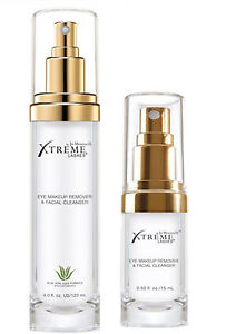 Xtreme Lashes Eye face Makeup gentle natural Remover Cleanser FULL or TRAVEL