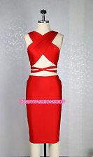 New Summer Spaghetti Strap Cross  Bodycon Bandage Backless V-Neck Party Dress
