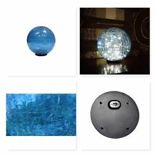 Blue Solar Gazing Ball 9.75-Inch Battery-operated Led Table Top or Stand Garden