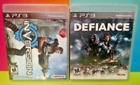 Inversion + Defiance  Game Lot - Sony PlayStation 3 PS3 - Tested