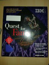 NEW SEALED! - Quest For Fame - Aerosmith - Vintage IBM CD-ROM Game 1995