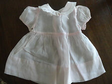 Vintage / Antique Pink Cotton Sheer  Baby Dress Sz 6 -9 Months