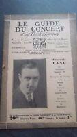 Revista Le Guía de La Concierto Y Las Sketches Letra 1932 N º 18 François Lang