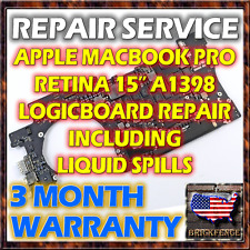 MACBOOK PRO A1398 15 820-3787-A RETINA LOGIC BOARD MOTHERBOARD REPAIR & WARRANTY